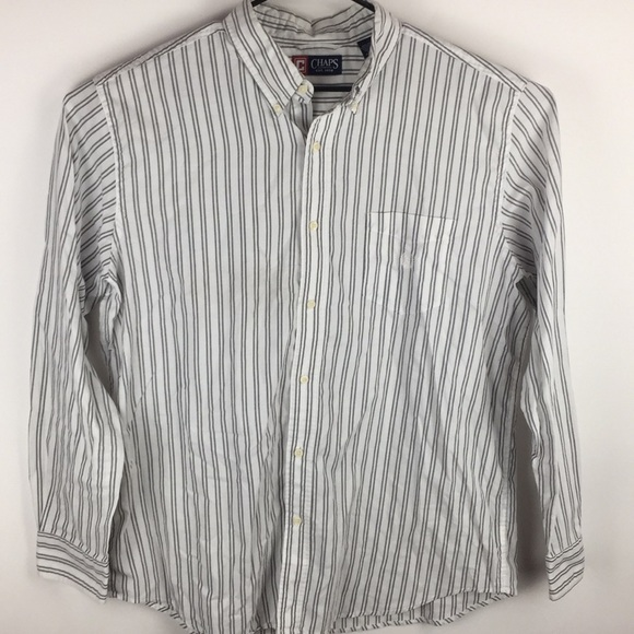 e9f29268 Chaps Shirts | Xl Long Sleeve Button Down Striped Shirt Men | Poshmark